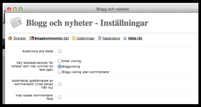Funktioner - Blogg