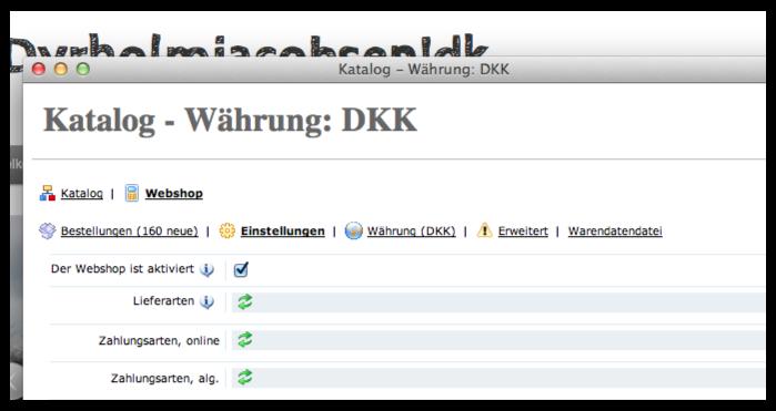 Funktionen - Webshop