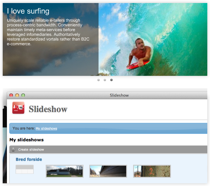 Features - galleries and slideshows